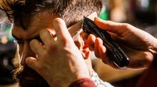 Haircut Concept. Man Visiting ...