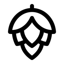 Hops Line Icon Vector