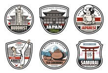 Japan Culture And Tradition Icons