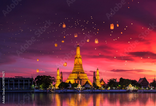 Wat Arun is one of the well-known landmarks of Thailand Canvas Print