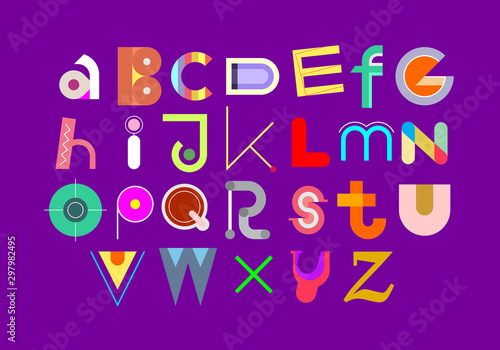 Fotobehang Abstractie Art Colorful Font Design
