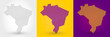 Striped map of Brazil