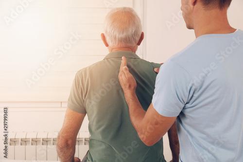 Fotografía Senior man with back pain
