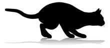 A Silhouette Cat Pet Animal De...