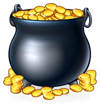 A Pot Of Gold Coins Like You M...