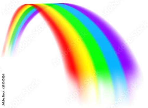 Fototapeta A colorful rainbow design element concept