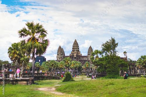 Plakat Angkor Wat, Siem Reap, Kambodża