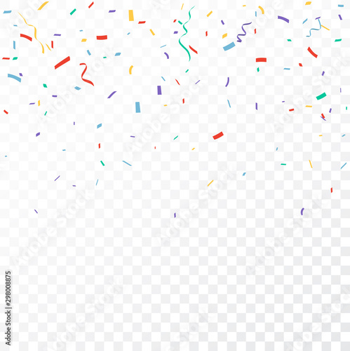 Fototapeta Colorful Confetti celebrations design isolated on transparent background obraz na płótnie