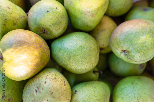 Photo Green pear juicy fresh fruit natural background