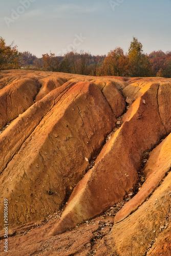 Photo Abandoned open-pit bauxite mine