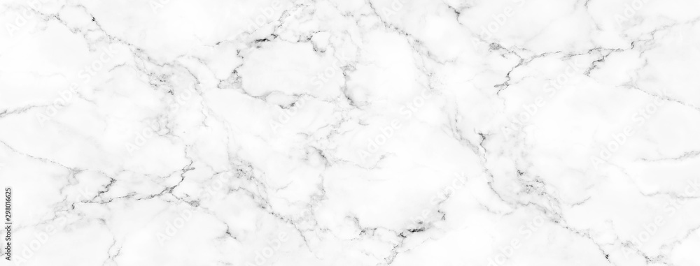 Fototapeta Luxury of white marble texture and background for decorative design pattern art work. Marble with high resolution