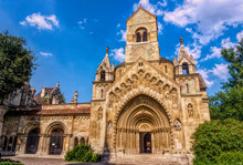 Ancient Medieval Gothic Chapel In The Sunny Varosliget Park, Budapest, Hungary