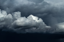 Dramatic Ominous Stormy Sky Wi...