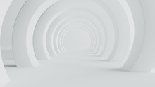 Abstract Of White Space Architecture,Perspective Of Future Design Building