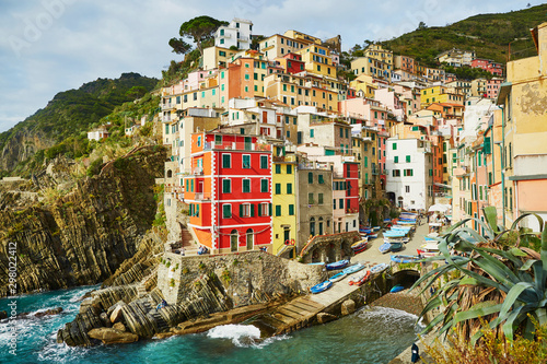 Fototapety, obrazy: Colorful houses in Riomaggiore, Italy