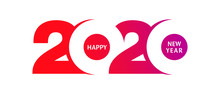Happy New Year 2020 Logo Text ...
