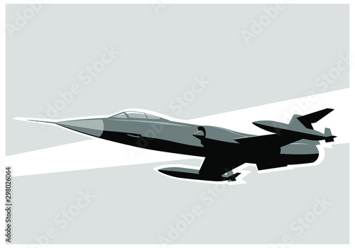 Fighter jet in the sky Canvas Print