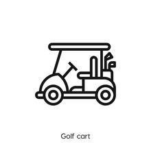 Golf Cart Icon. Golf Icon Vect...