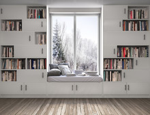 Reading Place With Bookshelves...