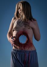 FX Through Body Gunshot Wound, Girl With Hole Through Her