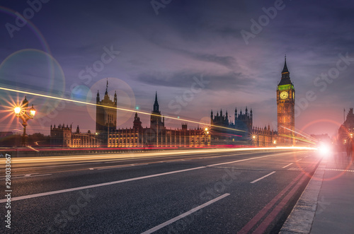 Long exposure of Big Ben in London