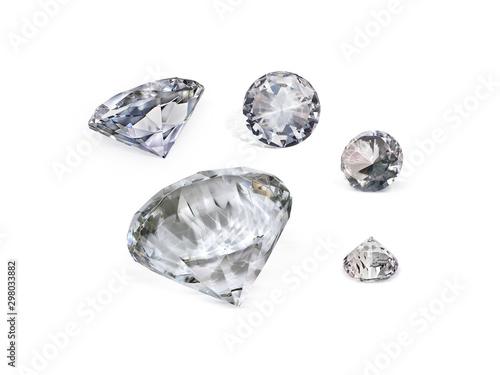 Fototapeta Diament  dazzling-diamond-on-white-background