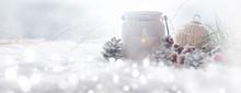 Frosty Christmas Still Life