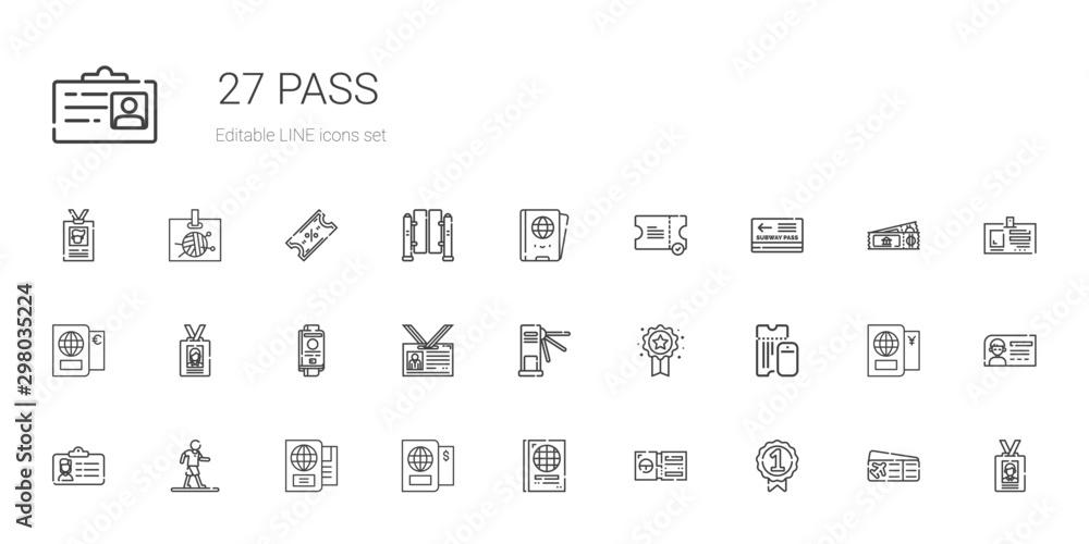 Fotografía pass icons set