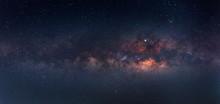 Blue Night Sky Milky Way And S...
