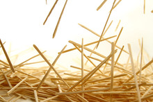 Bamboo Toothpick On White Background
