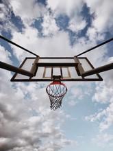 Basketball Hoop And Blue Sky