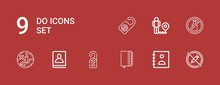 Editable 9 Do Icons For Web An...