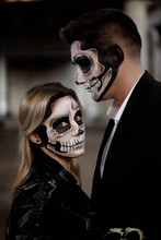 Halloween Couple. Dressed In W...