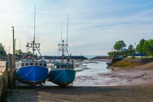 Harbor At Low Tide, In St. Mar...