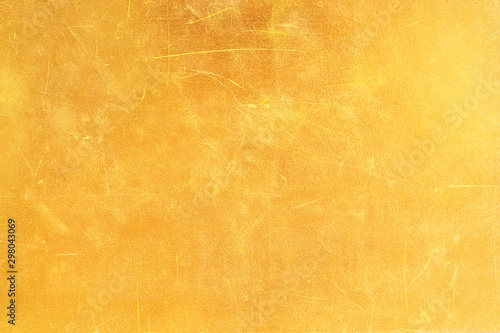 Fotomural  Gold abstract background or texture distress  scratch and gradients shadow
