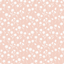 Cute Ditsy Floral Seamless Pat...