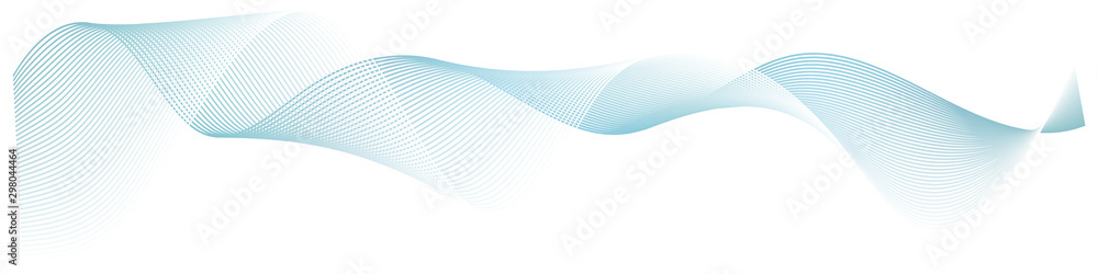 Fototapety, obrazy: abstract wave lines on white background