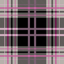 Pink - Gray Plaid Pattern Vector Background