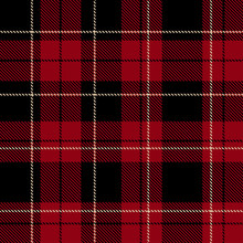 Red Plaid Pattern Vector Backg...