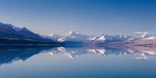 Mt Aoraki And Lake Pukaki In N...