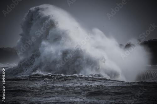 Photo Tempête, vagues puissantes, grosse houle, submersion