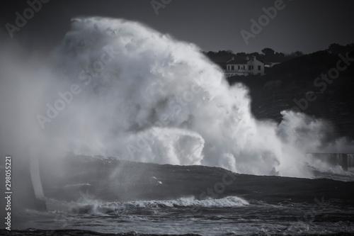 Fotomural Tempête, vagues puissantes, grosse houle, submersion