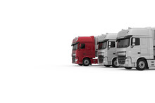 Generic Red Semi Truck With Se...