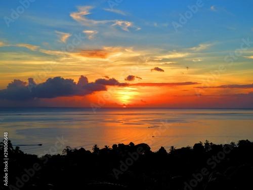 Keuken foto achterwand Oranje eclat exploring tropical island of tahiti
