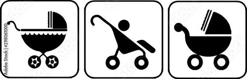 Photo stroller icon isolated on white background