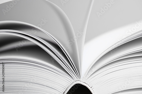 Fototapeta Closeup view of open book on light background obraz