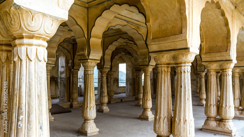 Fototapety, obrazy:  Amer Fort, Amber Palace near Jaipur in Rajasthan, India