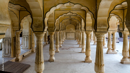 Amer Fort, Amber Palace near Jaipur in Rajasthan, India Canvas Print