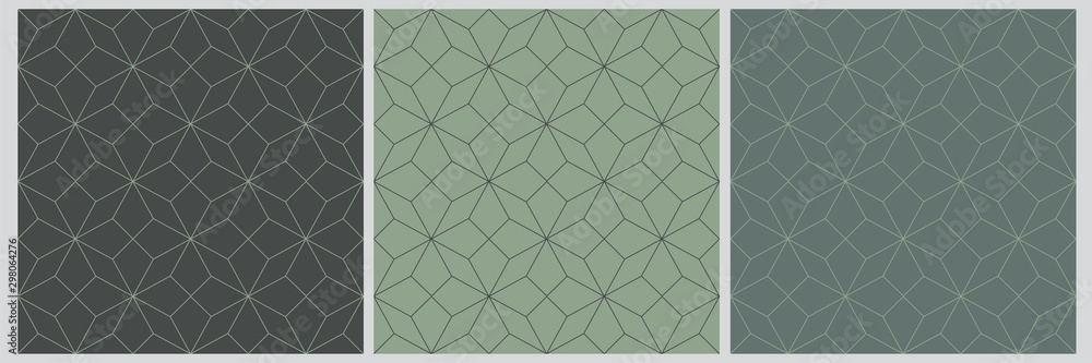 Fototapeta Seamless pattern abstract star christmas background with elegant vector lines