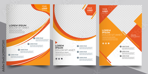 Obraz Brochure design, cover modern layout, annual report, poster, flyer in A4  - fototapety do salonu